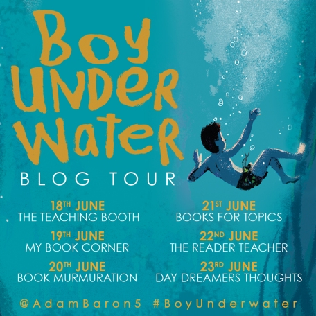Boy Underwater Blog Tour Banner