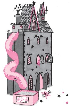 Isadora Moon and Mirabelle in Dolls House Castle